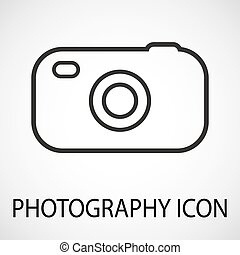 Simple photo camera icon, vector, illustration, eps file