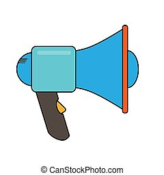 Simple picture of a megaphone, device to enhance the sound