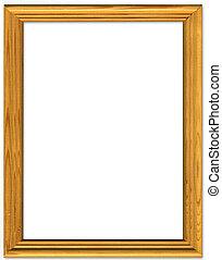 Simple Pine Picture Frame Border Design