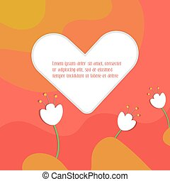 simple, plano, valentines, day., tarjeta