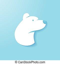 Simple Polar Bear - Simple polar bear head illustration