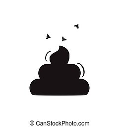 Simple Poop Icon On White Background