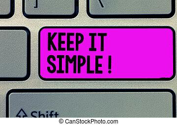 simple., posizione, semplice, testo, esposizione, esso, ...