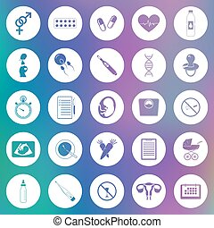 Simple pregnancy icons