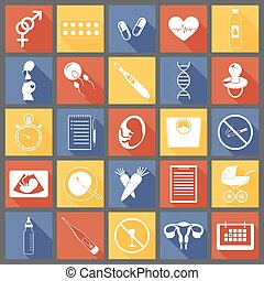 Simple pregnancy icons - Set of simple pregnancy icons....