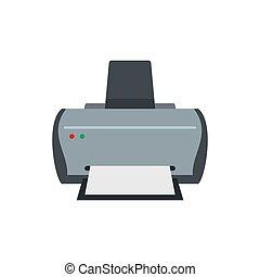 Simple printer icon, flat style