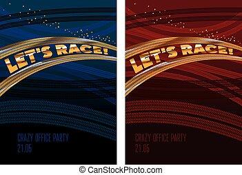 Simple race tarek vector illustration. Tires tracks path for...