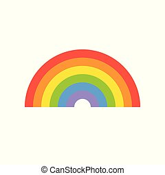 simple rainbow icon isolated on white background vector illustration