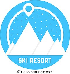 simple, recours, ski, logo