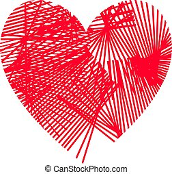 Simple Red Abstract Heart Shape