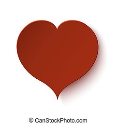 Simple red heart icon isolated on white background