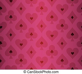 Simple red poker background with transparent effect