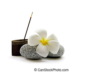 Simple Relaxation - A stick of fragrant Japanese incense,...