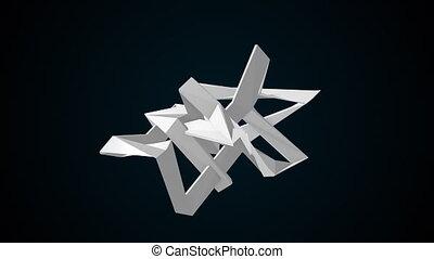 simple, rendre, 3d, arrière-plan., fractal, résumé, élément, informatique, formulaire, engendré