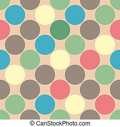 Simple retro seamless pattern with circles