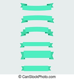 Simple ribbons set vector illustration