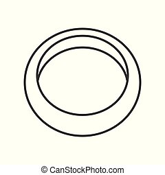 simple ring, jewelry related, outline vector icon