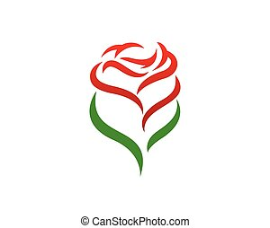 Simple Rose Petal and Leaves