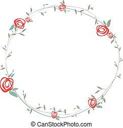 Rose Round Wreath
