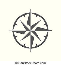 simple, rose, symbole, vent
