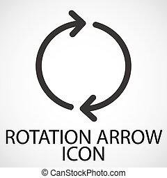 Simple rotation arrow line art icon, vector
