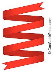 simple, ruban rouge, étiquette
