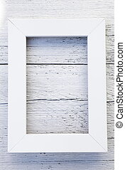 Simple rustic white frame and textured background