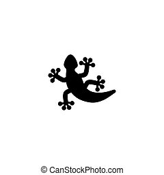 simple, salamander., salamandre, illustration., ui, reptile, gabarit, plat, arrière-plan., symbole, mobile, element., vecteur, tatouage, blanc, lézard, noir, icône, signe, toile, gecko, conception