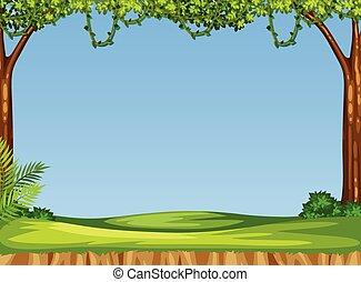 simple, scène, nature