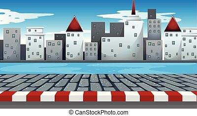 simple, scène urbaine