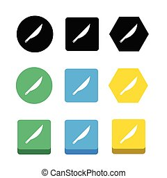 Simple Scalpel Icon sign design
