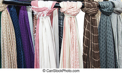 Simple scarves - Simple and colorful scarves on sale. The...