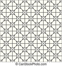 Simple seamless geometric pattern - vector grid background