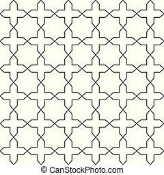 Simple seamless geometric pattern. Vector ornamental background