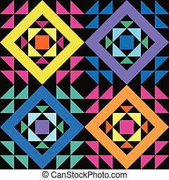Simple seamless patchwork pattern