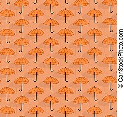 Simple seamless pattern with umbrellas