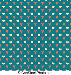 Simple seamless valentine's pattern