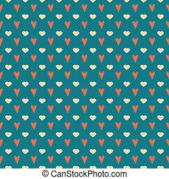 Simple seamless valentine's pattern