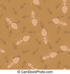 Simple seamless vector texture - ants