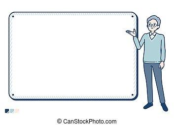 simple senior man_board-navigation