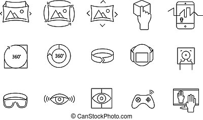 Simple Set of 360 VR icons
