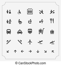 Simple Set of Airport Related Vector Icons.