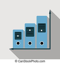 Simple Set of Folders Vector Line Icon.