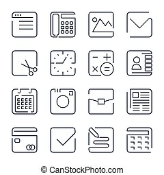 Simple Set of Office Related Vector Line Icons. Contains such Icons as Business Meeting, Workplace, Office Building, Reception Desk and more. Editable Stroke. EPS 10
