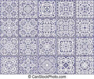 Simple set of ornate tiles