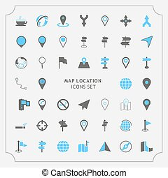 Simple Set of Route Related Vector Icons