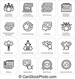Simple Set of Testimonials Related Vector Icons