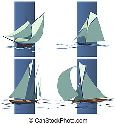 Simple ship with sails.
