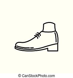 Simple Shoe Thin Line Icon Illustration Design