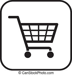 simple shopping basket sign